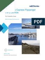 West Shore Ferry Pre-Feasibility Study