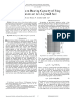 Evaluation on Bearing Capacity of Ring Foundations on Two Layered Soil