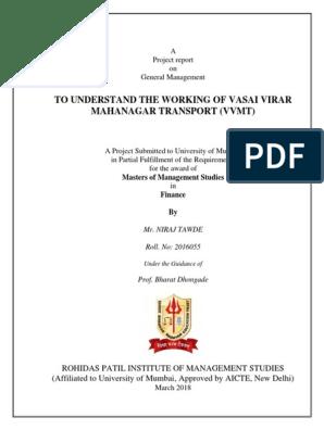VVMT Black Book docx | Transport | Technology