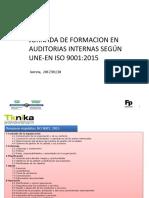 Auditorias Internas Segun ISO 9001-2015