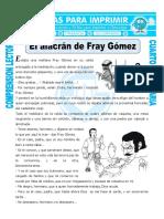 Ficha El Alacrán de Fray Gómez Para Cuarto de Primaria