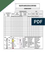Registro Inspección Extintores CS CONSULTORES
