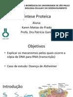 Aula 04 - Síntese Proteica
