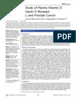 A Prospective Study of Plasma Vitamin D Metabolites, Vitamin D - Prostate Cancer 20MAR07