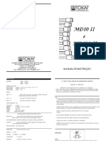 Manual Md10 II