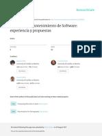 Curso Sobre Mantenimiento de Software Experiencia
