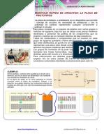 Montaje de Circuitos Electrónicos Básicos en Placa Protoboard y Simulación Con Crocodile Clips
