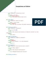 Excepciones en Python