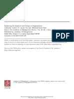 Explaining Development and Change in Organization - Van de Ve
