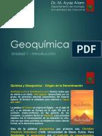 Unidad 1 - Introducción Geoquímica
