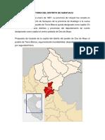 Historia Del Distrito de Sarayacu