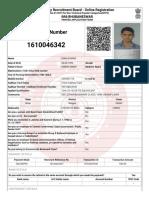 Applicant Printsonu Rrb