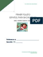 Cuadernillo Para Centros de Español 11 y 12 Año