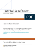ChE 407 B3 Tech Spec & Design Basis