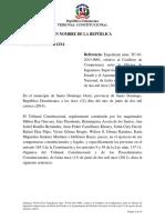 Sentencia TC 0112-14 C Requisitos Para La Configuración y La Calidad Para Admitir Conflicto de Competencia