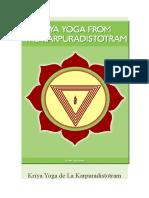 Kriya Yoga de La Karpuradistotram