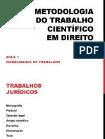 Metodologia do trabalho cientifico Aula 1.pdf