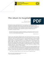 The Return to Hospitality