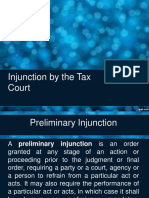 Injunction by the Court of Tax Appeals