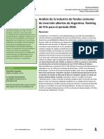 Ranking de Fondos Comunes de Inversion de  Argentina 2018