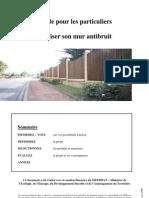Guide Particuliers Realiser Mur Antibruit