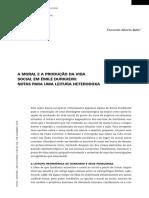 Moral e produção da vida Durkheim