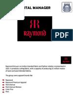 Raymond Case Study