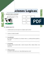 Ficha Situaciones Logicas Para CUARTO de Primaria