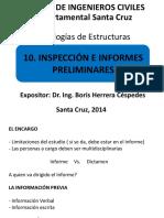 10. Inspección e Informes Preliminares