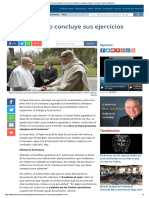 Papa Francisco Finaliza Sus Ejercicios Espirituales y Agradece Al Padre Bernardo Francesco Maria Gia