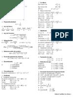 Formulario de Geometría Analitica