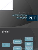 Antropología filosófica síntesis