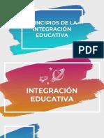 Principios de la integración educativa
