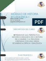 Modulo de Historia Eclesiastica i