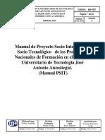 Manual de Proyecto Socio Integrador y Socio Tecnológico de Los Programas