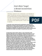 """Geoffrey Cox's New """"Legal Advice"""" on Brexit Incentivises Unionist Violence"""