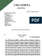 Alma Andina Marcha Score