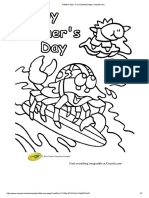 Father's Day - Fun Coloring Page