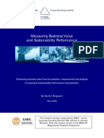 Measuring Business Value and Sustainability Performance-2009