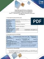 Guía de Actividades y Rúbrica de Evaluación – Paso 3 - Reconocer Los Tipos de Sistemas y Procesos Tecnológicos