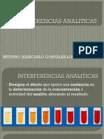 INTERFERENCIAS ANALITICAS