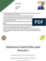 Tatalaksana Gawat Nafas Pada Neonatus Untuk Bidan Dan Perawat