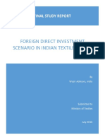 FDI Scenario in Indian Textiles Sector - A Study Report.pdf