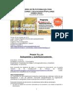 Educación popular- Documento de Síntesis - Talleres  2013