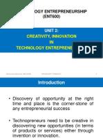 creativity innovation in technology entrepreneurship