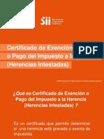 Ayuda Certificado Herencias