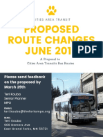 June 2019 Proposal Grand Forks bus routes
