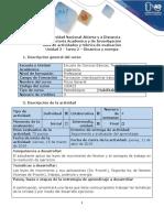 Guía de actividades y rúbrica de evaluación - Tarea 2 - Dinámica y energía.docx