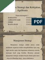 Manajemen Strategi Dan Kebijakan Agribisnis 1