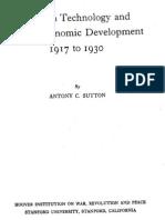 ANTONY SUTTON Western Technology and Soviet Economic Development 1917 to 1930 First Volume 1968